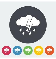Storm icon vector image vector image