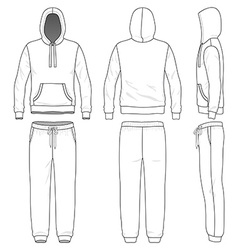 Sweat suit vector image vector image