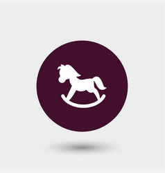 toy pony icon simple vector image vector image