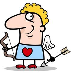valentine man in cupid costume cartoon vector image vector image
