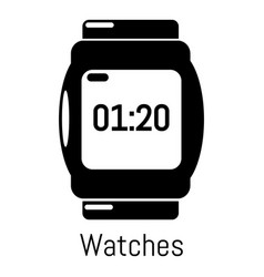 watches icon simple black style vector image