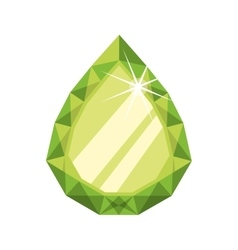 Diamond gem jewelry stone icon graphic vector
