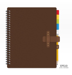 Note book with pencil vector