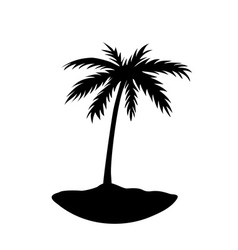 One palm tree island vector
