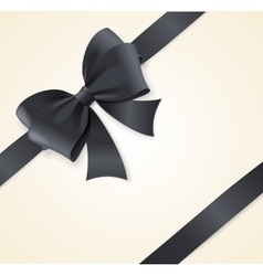 Luxury black bows and ribbons card vector