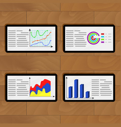 Infochart business on tablets vector