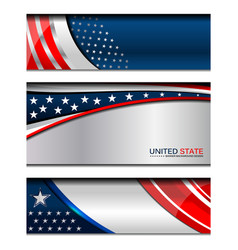 Usa modern backgrounds vector