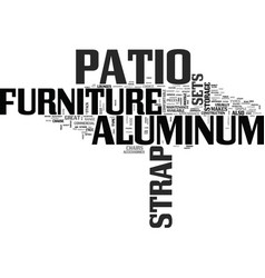 Aluminum strap patio furniture for the poolside vector