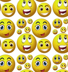 Seamless happy face vector