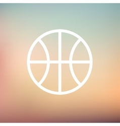 Basketball ball thin line icon vector
