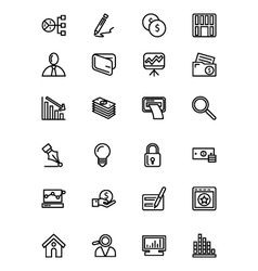 Finance line icons 6 vector