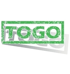 Green outlined togo stamp vector