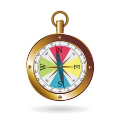 golden box compass vector image