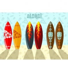 illustration of surf boards vector image