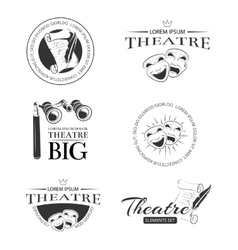 Theater acting entertainment performance vector