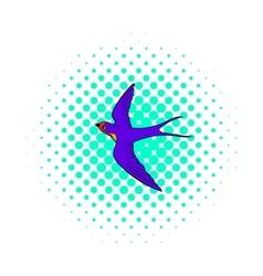 Swallow icon comics style vector image