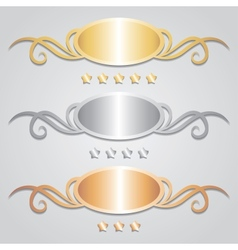 Metal frames vector