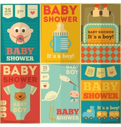 Baby boy set vector