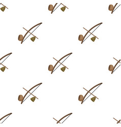 Berimbau icon in cartoon style isolated on white vector