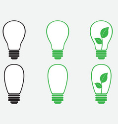 Bulbs vector image vector image