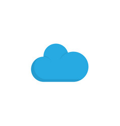 cloudy flat icon symbol premium quality isolated vector image vector image