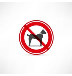 Dogs are prohibited icon vector