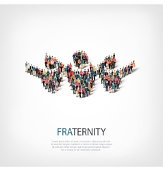 Fraternity people sign 3d vector
