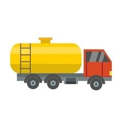 Gas oil truck vector