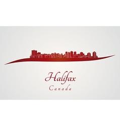 Halifax skyline in red vector