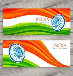Indian flag banners background vector