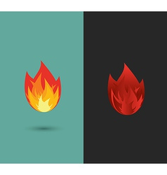 logo Fire flame icon set in format vector image