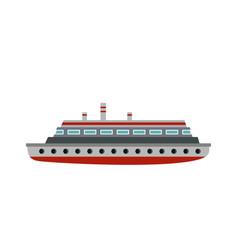 Long ship icon flat style vector