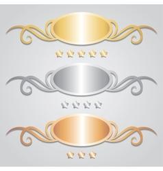 metal frames vector image