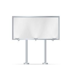 mockup for your advertisement blank big billboard vector image