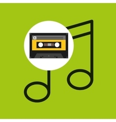 Note music cassette tape vector