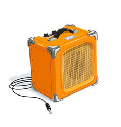 orange guitar combo amplifier vector image vector image