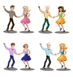 professional dancer couple dancing vector image