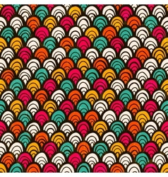 Seamless colorful hand drawn pattern vector image vector image