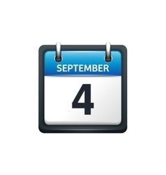 September 4 calendar icon vector
