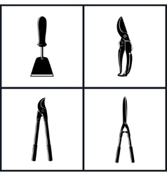 Set of agricultural tool icons vector
