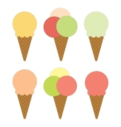 Set of ice cream vector image vector image