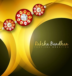Shiny rakhi background vector