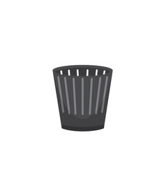 trash bin garbage container and trash bin recycle vector image vector image