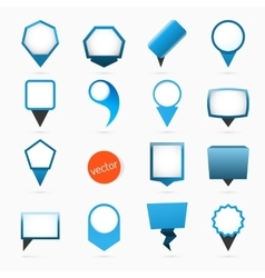 Pointers labels graphics blue variant vector