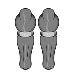 Hockey knee pads icon black monochrome style vector