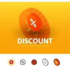 Discount icon in different style vector