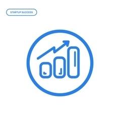flat line chart icon vector image