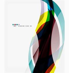 Modern geometric wavy shapes on light vector
