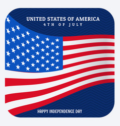 Usa 4th of july independence day vector