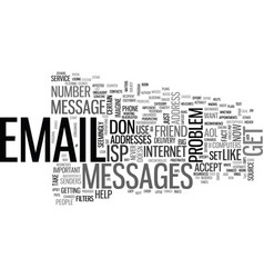 Is your email address blacklisted text background vector